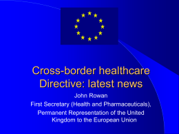 Presentation John Rowan on Cross-border healthcare