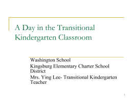A Day in the TK Classroom