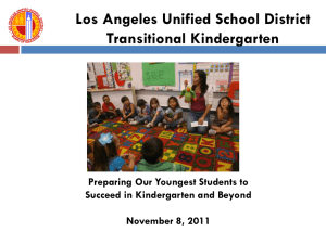 Curriculum - LAUSD - Preschool California