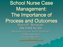 School Nurse Case Management - Charlotte