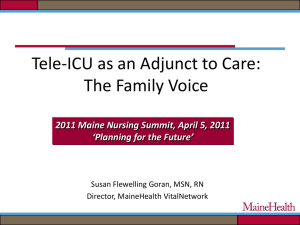 Tele-ICU as an Adjunct to Care: The Family Voice