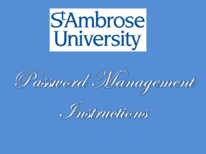 St. Ambrose Information Resources
