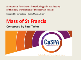 Mass of St Francis Resource