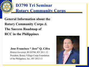 Rotary Community Corps PowerPoint presentation