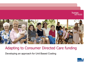 Adapting to Consumer Directed Care funding