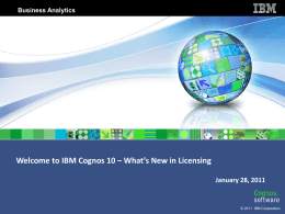 IBM Cognos 10 – What`s New in
