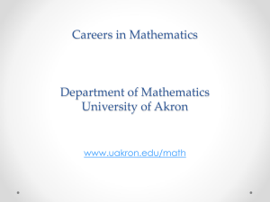 Careers in Mathematics - The University of Akron