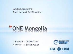 ONE Mongolia - Open Education Conference