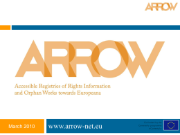 the ARROW Project Presentation