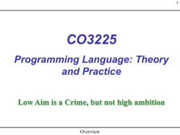 CO3225 Programming Language