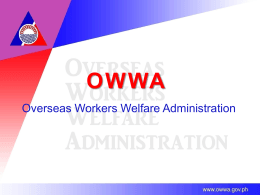OWWA - Bureau of Local Employment