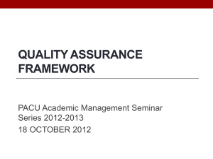 enhancing quality assurance (qa) in philippine higher