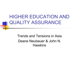 higher education and quality assurance - East