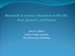 what have been the trends in UK science education research
