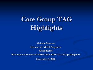 What are Care Groups?