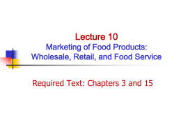 CHAPTER 3 - Department of Agricultural and Applied Economics