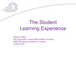 Malcolm Gillies – VC London Metropolitan University