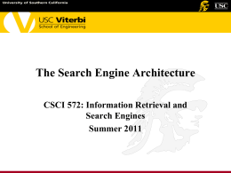 The Search Engine Architecture - Center for Software Engineering