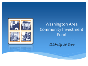 Washington Area Community Investment Fund
