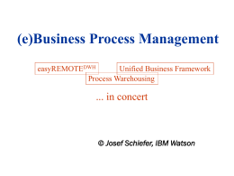 (e)Business Process Management