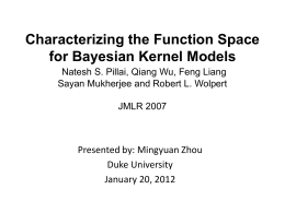 Characterizing the Function Space for Bayesian