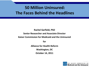 Garfield Presentation - Alliance for Health Reform