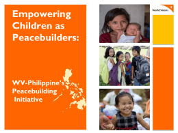 FY15 Child Well-being Reporting WV Philippines