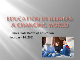 Teacher Education in Illinois: A Changing World