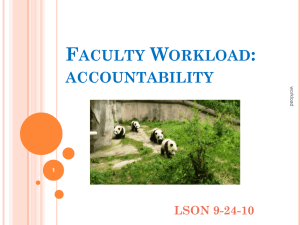 Faculty Workload - University of Memphis