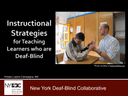 Instructional Strategies for Teaching Learners who are Deaf