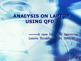 Analysis on Laptop Using QFD
