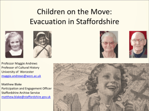 On the Move: Evacuation in Staffordshire