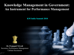 Knowledge Management in Government