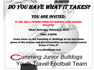 Cumming Junior Bulldogs - Forsyth County Schools