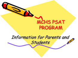 mchs psat program information for parents ppt