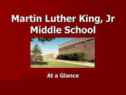 Dr. Martin L. King, Jr. MS