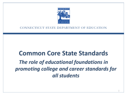Common Core State Standards and Smarter Balanced