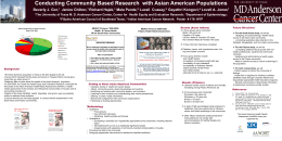Conducting Community Based Research with Asian American