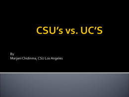 CSU`s vs. UC`S - Glendale High School