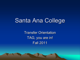 Requirements - Santa Ana College