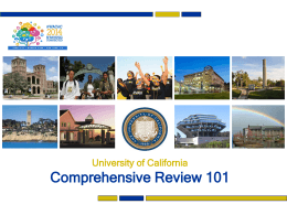 Comprehensive Review 101: How the UC Campuses Read