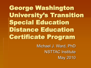 George Washington University`s Transition Special