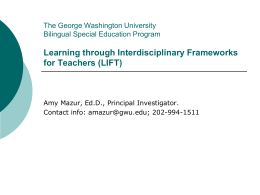 The George Washington University Bilingual Special Education