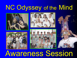 Odyssey of the Mind Awareness Session - NCOM