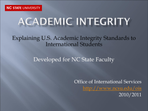 Academic integrity - North Carolina State University