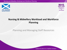Planning and managing staff resource