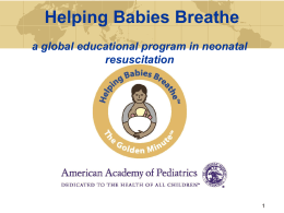 Helping Babies Breathe: What makes it different?