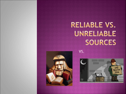 reliable vs unreliable