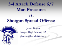 3-4 Attack Defense 6/7 Man Pressures vs. Shotgun