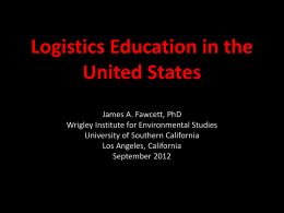 Logistics Education in the United States